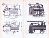 Stich aus 1893 zeigt verschiedene Lokomobilen.
