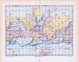 Farbig illustrierte Weltkarte aus 1893 zeigt...