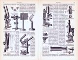 Mikroskope ca. 1893 Original der Zeit