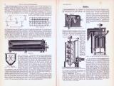 Technische Abhandlung mit Stichen aus 1893 zum Thema Mühlen.