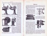 Technische Abhandlung mit Stichen aus 1893 zum Thema Münzwesen.