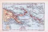 Farbig illustrierte Landkarten aus 1893 der Deutschen...