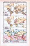 3 farbig illustrierte Weltkarten aus 1893 zeigen die...