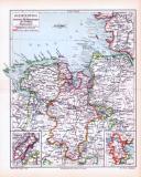 Farbig illustrierte Landkarte aus dem Jahr 1893 zeigt den...