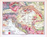 Farbig illustrierte Karte der geologischen Strukturen...