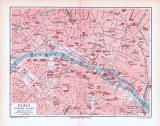 Farbig illustrierter Stadtplan der inneren Stadt von...
