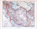 Farbig illustrierte Landkarte von Persien aus 1893.