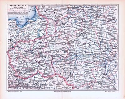 Farbig illustrierte Landkarten von Westrussland aus 1893, im Maßstab 1 zu 3.700.000.