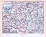 Farbig illustrierte Landkarten von Westrussland aus 1893,...