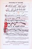 Farbige Lithographie aus 1893 zeigt die Entwicklung der...