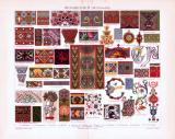 Chromolithographie aus 1893 zeigt verschiedene Ornamente...