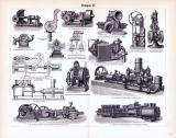 Pumpen I. + II. ca. 1893 Original der Zeit