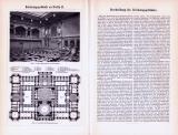 Reichstagsgebäude zu Berlin I. + II. + Reichgerichtsgebäude zu Leipzig ca. 1893 Original der Zeit