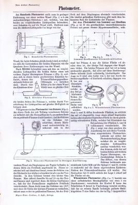 Technische Abhandlung mit Stichen aus 1893 zum Thema Photometer.