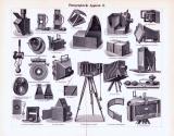Photographische Apparate I. + II. ca. 1893 Original der Zeit