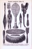 Ozeanisch-australische Kultur II. + III. ca. 1893 Original der Zeit