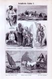 Stich aus 1893 zeigt Objekte der Ostindischen Kultur.