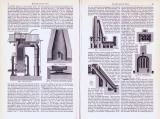 Metallurgische Öfen ca. 1893 Original der Zeit