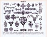 Stich aus 1893 zeigt verschiedene kunstvoll gefertigte...
