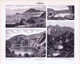 Stich aus 1893 zeigt verschiedene Darstellungen von Seebildungen.