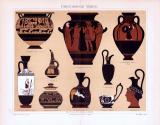 Chromolithographie aus 1893 zeigt verschiedene Vasen aus...