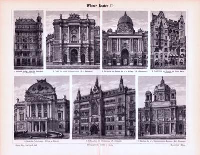 Stich aus 1893 zeigt Wiener Prachtbauten.