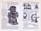 Sägen und Sägemaschinen ca. 1893 Original der Zeit
