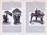 Setzmaschinen ca. 1893 Original der Zeit