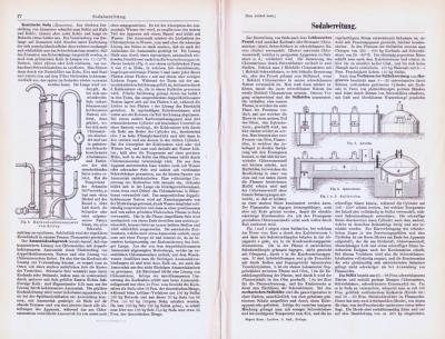 Technische Abhandlung mit Stichen aus 1893 zum Thema Sodabereitung.