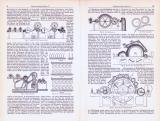 Spinnereimaschinen I. ca. 1893 Original der Zeit