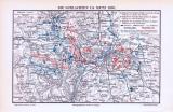 Farbige Illustration aus 1893 einer Militärkarte der...