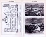 Sternwarten I. + II. ca. 1893 Original der Zeit