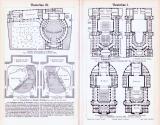 Architektonische Stiche aus 1893 zum Thema Theaterbau.