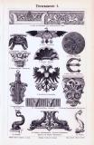 Stiche aus 1893 zeigen verschiedene kunsthandwerkliche...
