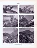 Vulkane ca. 1893 Original der Zeit