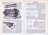 Technische Abhandlung mit Stichen aus 1893 zum Thema Wirkmaschinen.