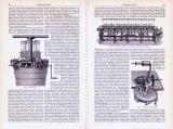 Wirkmaschinen ca. 1893 Original der Zeit
