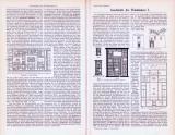 Abhandlung zur Geschichte des Wohnhauses und Stiche aus 1893 zeigen Häuser der Gotik und Renaissance.