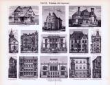 Geschichte des Wohnhauses II. + Tafel II. Wohnhaus der Gegenwart ca. 1893 Original der Zeit