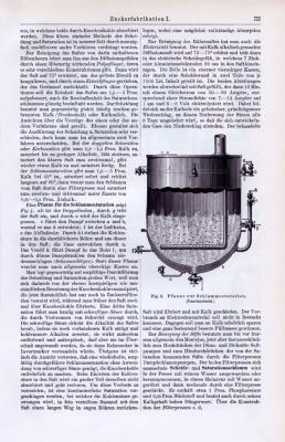 Technische Abhandlung mit Stichen aus 1893 zum Thema Zuckerfabrikation.