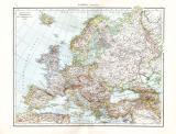 Farbig illustrierte politische Karte aus dem Jahr 1881...