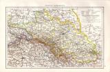 Farbig illustrierte Landkarte von Norddeutschland aus dem...