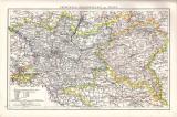 Hannover & Schleswig-Holstein Landkarte ca. 1881 Original der Zeit