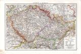 Österreich Alpenländer Karte ca. 1881 Original der Zeit