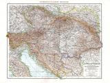 Farbig illustrierte Karte aus dem Jahr 1881 zeigt die Gebiete der Monarchie Österreich-Ungarn. Im Maßstab 1 zu 2.750.000.