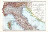 Die Schweiz Landkarte ca. 1881 Original der Zeit