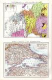 Balkanhalbinsel Landkarte ca. 1881 Original der Zeit