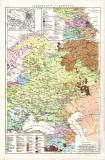 Europäisches Russland Landkarte ca. 1881 Original der Zeit