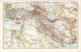Asien Landkarte ca. 1881 Original der Zeit