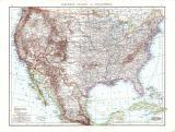 Farbig illustrierte Karte aus dem Jahr 1881 zeigt die Vereinigten Staaten von Nordamerika im Maßstab von 1 zu 10 Millionen.